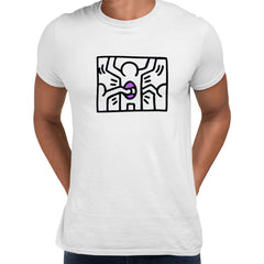Keith Haring - Pop Art Icon Talking Heads Abstract - White Unisex T-Shirt