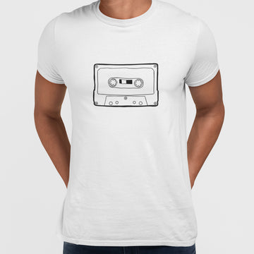 Cassette tape recording T-shirt for Cool Retro Old Fashion Mind