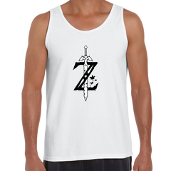 Legend of Zelda GAMING Retro OLD SKOOL Arcade White Tank Top