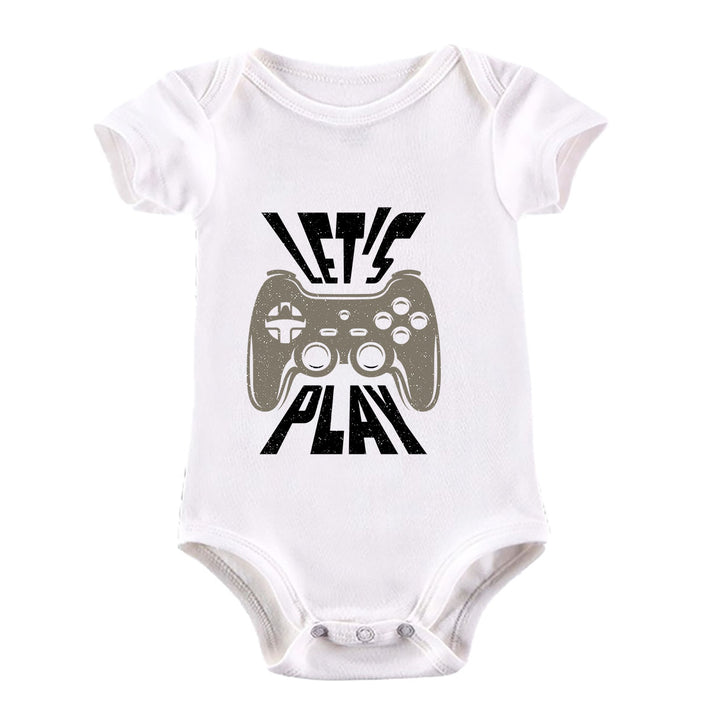 Gaming T-Shirt Old School Gamer Retro Video Game Let's Play White Baby & Toddler Body Suit