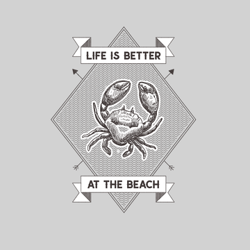 Life is Better at the Beach Relax Sunshine Seaside Short sleeve Unisex Black T-shirt