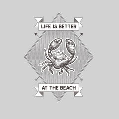 Life is Better at the Beach Relax Sunshine Seaside Short sleeve Unisex White T-shirt