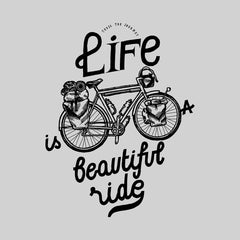 Kuzi Tees Life is a beautiful ride Special Black T-shirt design