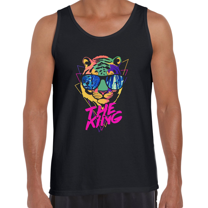 Lion Tiger The King Amazing summer Unisex Black Tank Top