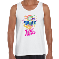 Lion Tiger The King Amazing summer Unisex White Tank Top