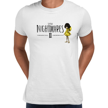 Little Nightmares Six Maw Cool Creepy Inspired Adult Game Unisex T-Shirt White