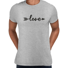 Love Sign One - Valentines Love T-shirt for men Grey Unisex T-Shirt