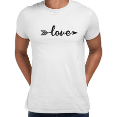 Love Sign One - Valentines Love T-shirt for men White Unisex T-Shirt