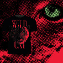Kuzi Tees Lynx-halftone-animal-Wild-Cat