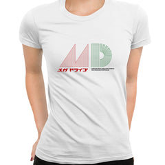 Mega Drive Japanese T-Shirt - Inspired by Japanese Sega Mega Drive - Genesis White T-Shirt for Women