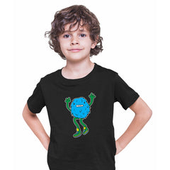 Cookie Fluffy Inspired Monster Funny Gift Drawing Kids Printed Black T-Shirt for Kids