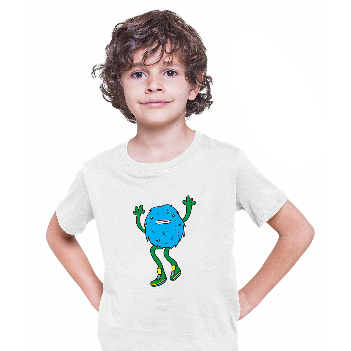 Cookie Fluffy Inspired Monster Funny Gift Drawing Kids Printed White T-Shirt for Kids