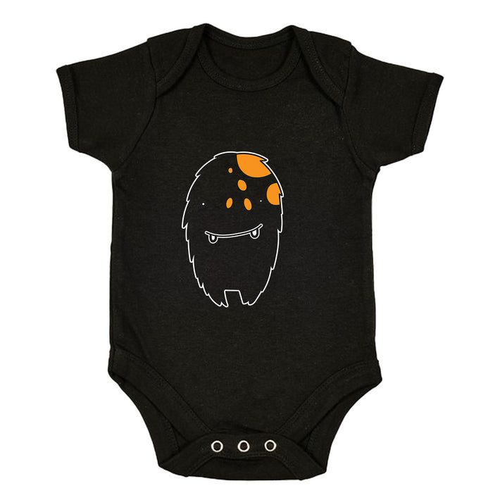 Tooth Vampire Monster Scary Eye Funny Gift Drawing Printed Black Baby & Toddler Body Suit