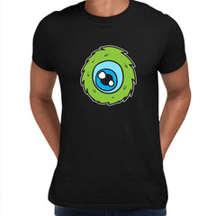 Cookie Green Tongue Monster Eye Funny Gift Drawing Men Printed Black Unisex T-Shirt