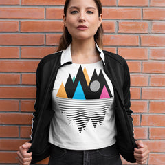 100% Eco Organic T-shirt - Mountain Geometry Design Composition