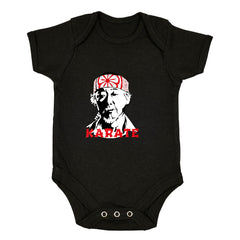 Mr Miyagi Karate Kid 80s Cult Movie Black Baby & Toddler Body Suit