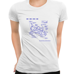 NASA Space Shuttle Program Official Women White T Shirt