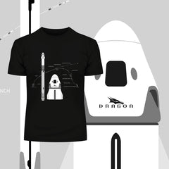 Nasa spacex Dragon launching & Landing T-shirt 2020