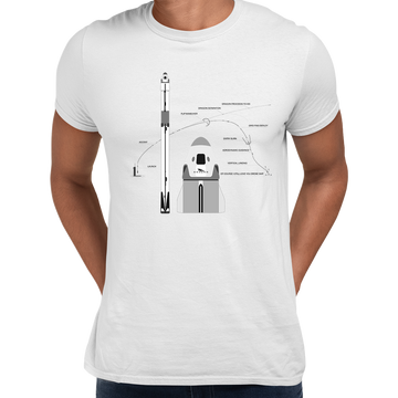 NASA SpaceX Falcon 9 Dragon Launch & Land Black Tee