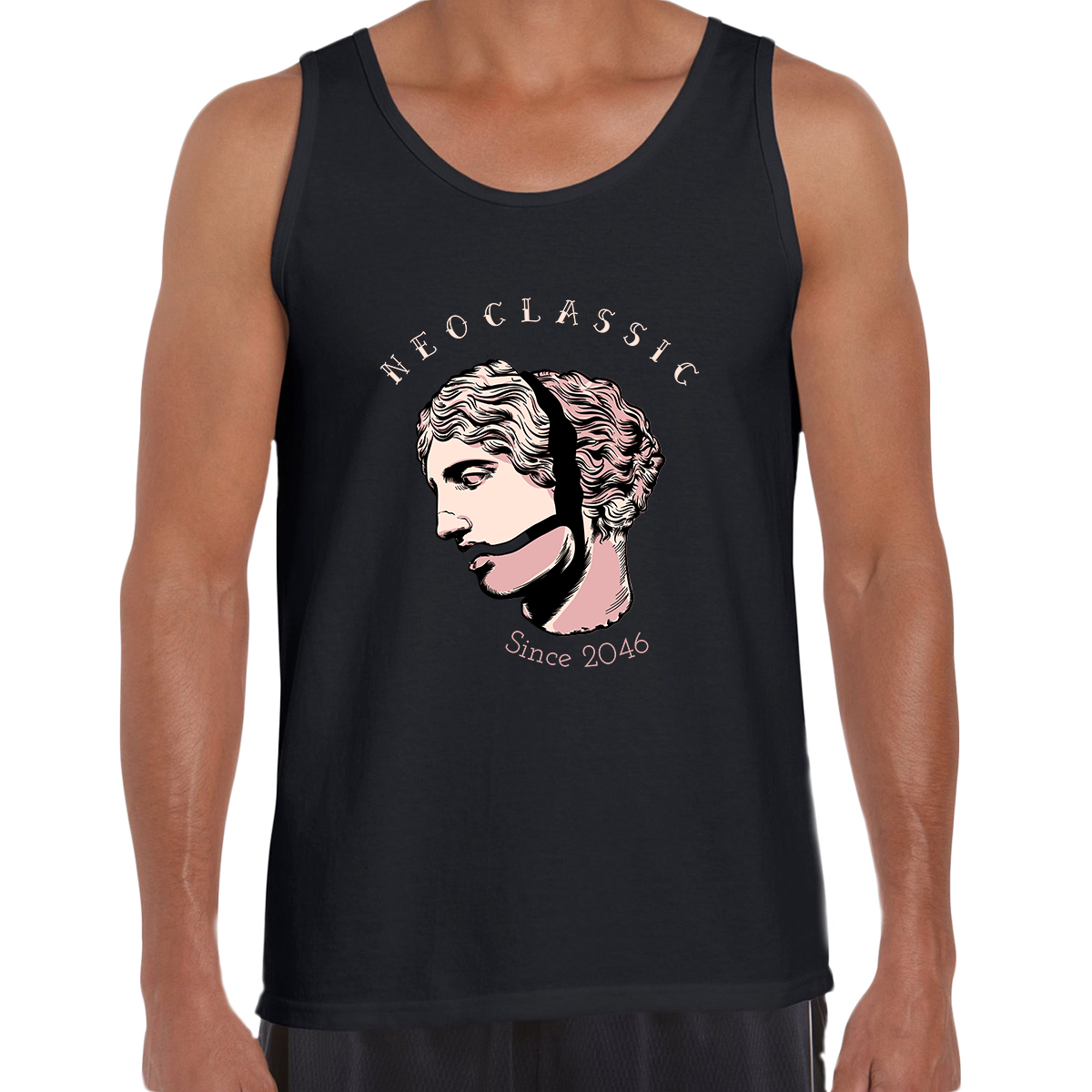 NeoClassic Unique Antic Sculpture Abstract Unisex Black Tank Top