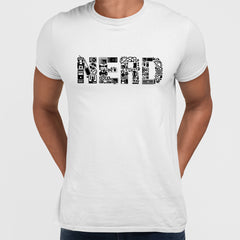 NERD typography tee including goodies and gadgets icon White