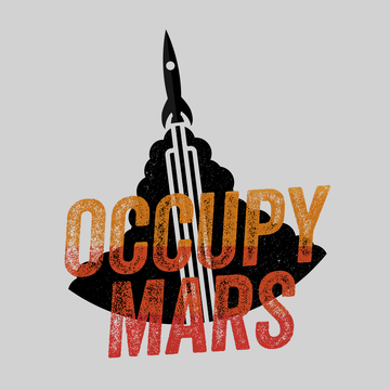 Occupy Mars Space Nasa Project SpaceX White T Shirt
