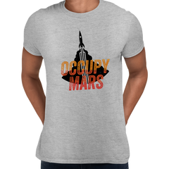 Occupy Mars Space Nasa Project SpaceX Grey T Shirt
