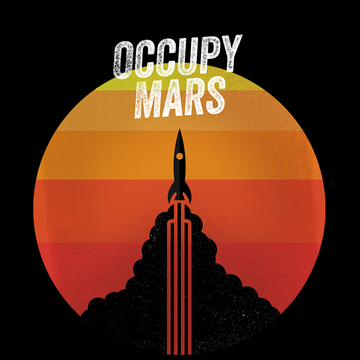 Occupy MARS Nasa Space Project SpaceX Rocket Stars Black Tank Top