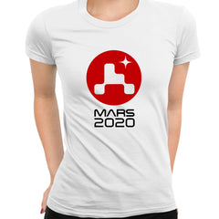 Occupy Mars T-Shirt Space Landing 2021 Tesla Tee Joe Rogan Red Planet White T-shirt for Women