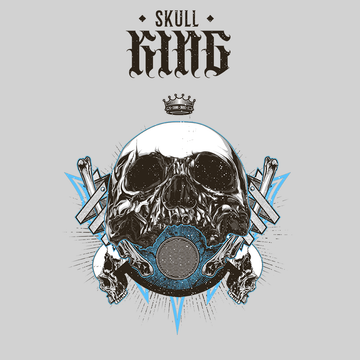 Old King Death Skull White T-Shirts for Women Bike Knighthood Grave