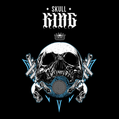 Old King Death Skull Black T-Shirts for Women Bike Knighthood Grave