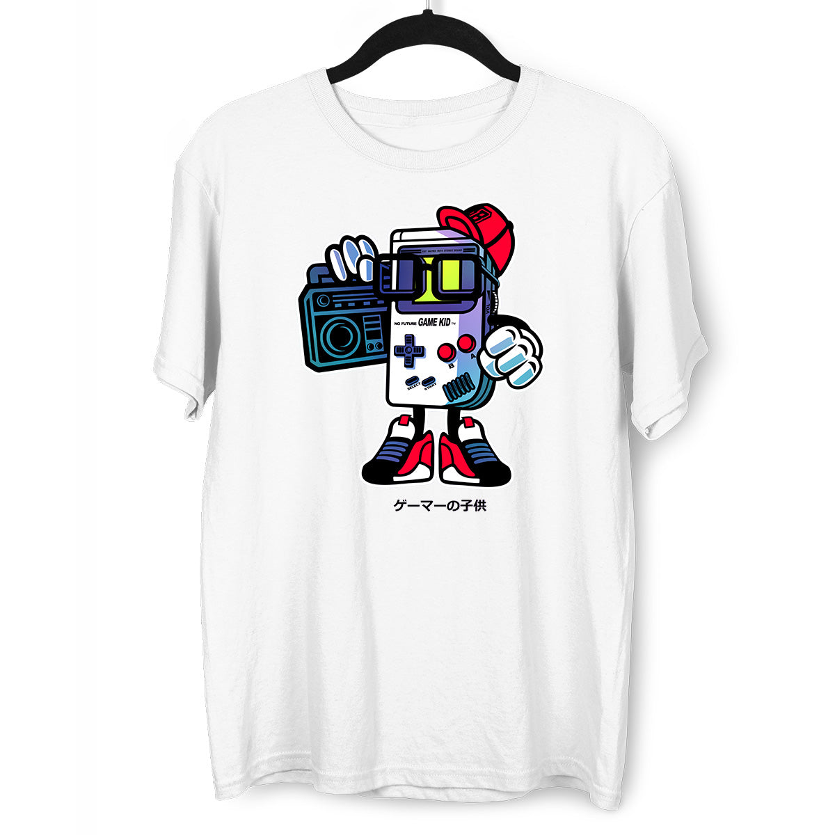 Old School Nintendo Game Kid White T-shirt