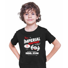Star Wars Funny T-shirt Imperial Force Rebels Tie Fighter Vader Print Black Kids T-Shirt