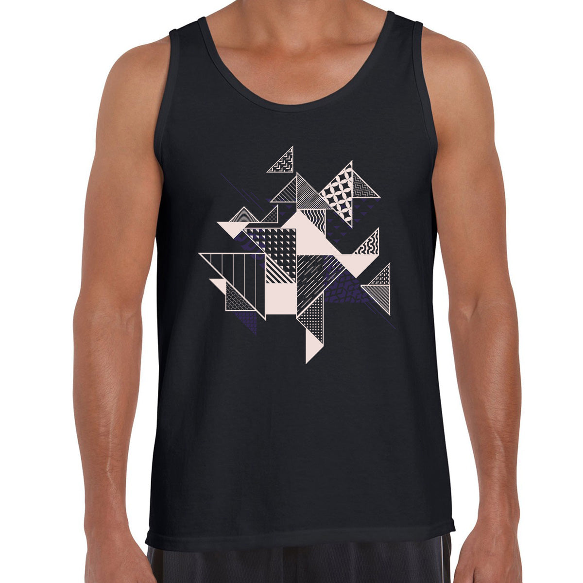 Abstract Flat Art Background With Geometric Elements Tank Top