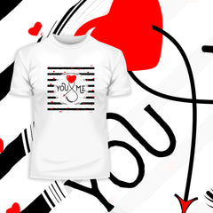 Valentine heart special design you and me Unisex T-shirt