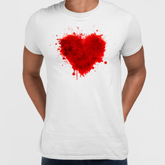 Love abstract watercolour heart Valentine's day Unisex T-shirt