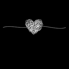 PK-98164-Tangled way to the heart - hand drawn scribble