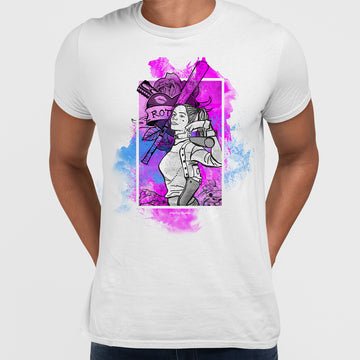 Harley Quinn Portrait With Baseball Bat T-Shirt