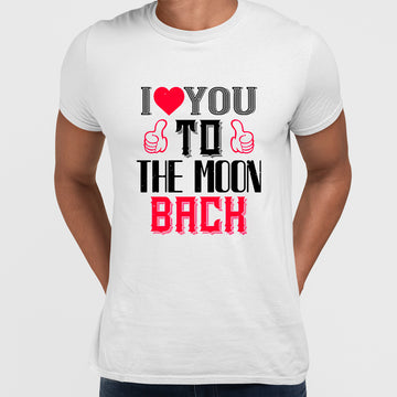 I love you to the moon beach - valentine's day T-shirt edition