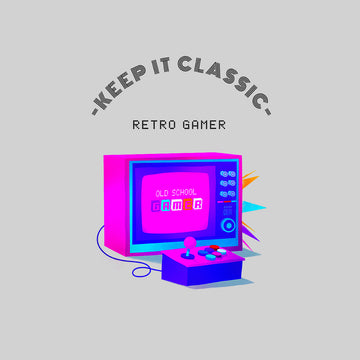 Keep it Classic - Retro Gamer Choose Wisely Old Fashioned Computer Gaming