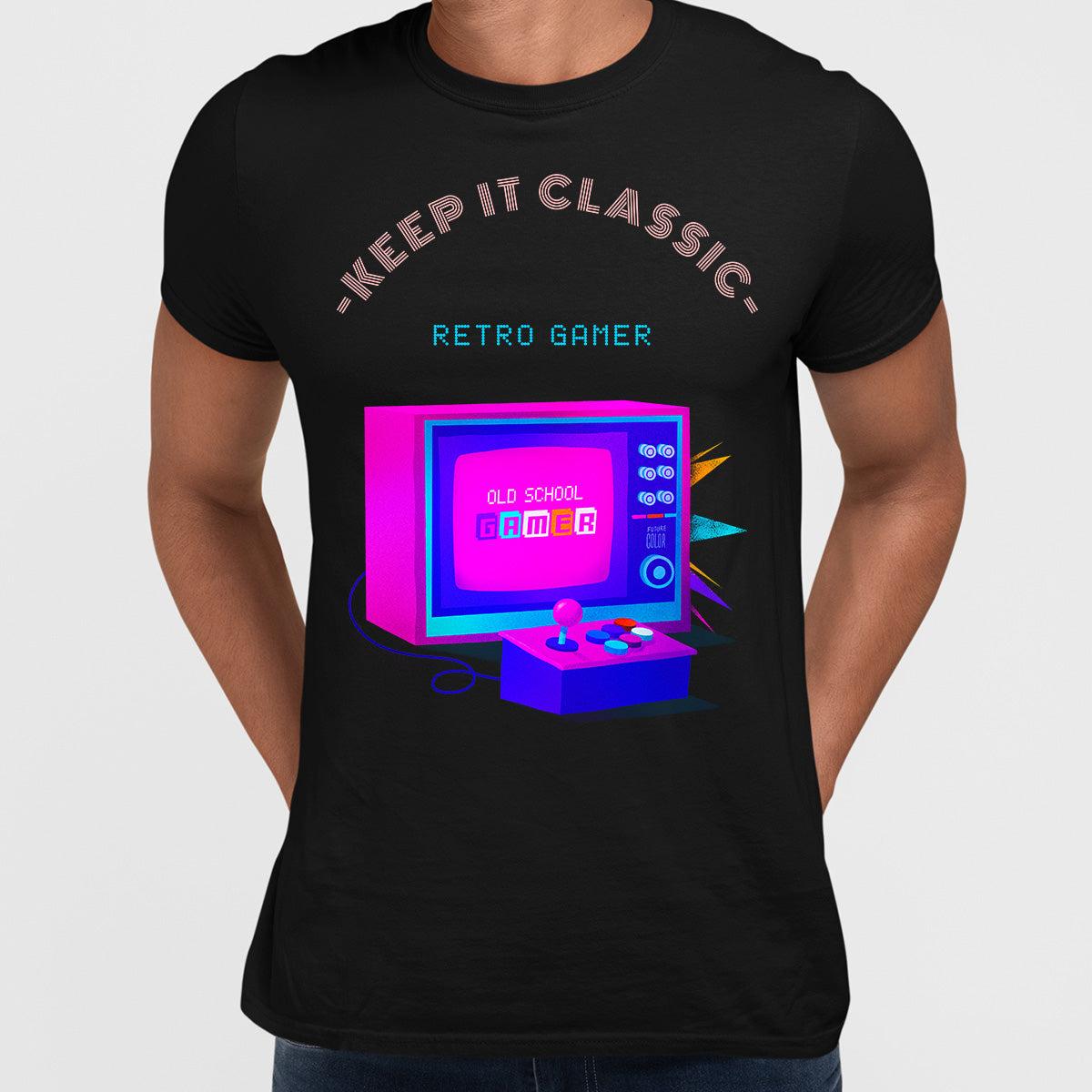 Keep it Classic - Retro Gamer Choose Wisely T-shirt Black