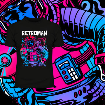 Retroman Retro character - Old Fashioned Computer Gaming Character