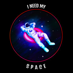 I Need My Space - Retro Astronaut  floating in the space T-shirt
