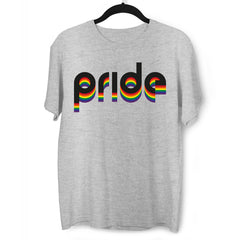 Gay Pride LGBT Rainbow Lesbian Festival Slogan Straight Bi Community Grey T-Shirt
