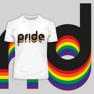 Gay Pride LGBT Rainbow Lesbian Festival Slogan Straight Bi Community White T-Shirt
