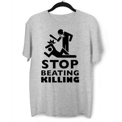 Stop beating killing Black lives matter Grey T-Shirt