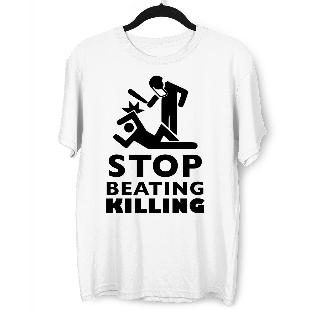 Stop beating killing Black lives matter White T-Shirt