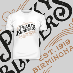 The Peaky Blinders Est Birmingham 1919 Tommy Shelby's White Tee