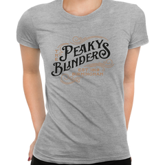 Women's The Peaky Blinders Tommy Shelby's Movie Crew Neck Grey T-shirt