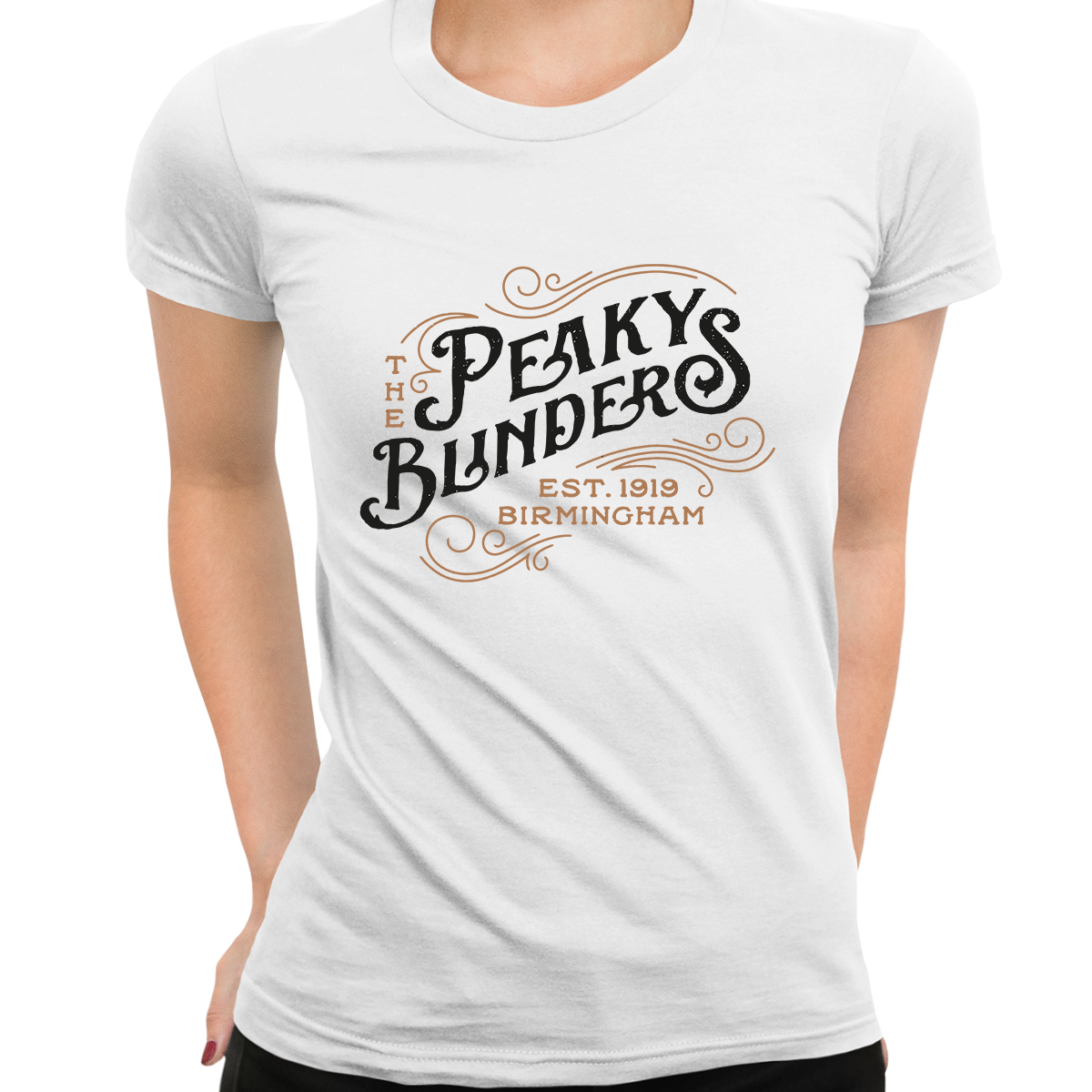 Women's The Peaky Blinders Tommy Shelby's Movie Crew Neck White T-shirt